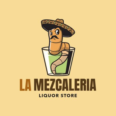 Liquor Store Logo Design Template with a Mexican Style 1815d