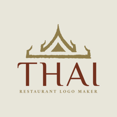 Simple Thai Restaurant Logo Maker with Flashy Typeface 1840