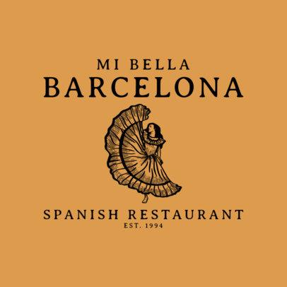Classic Spanish Restaurant Logo Maker 1918