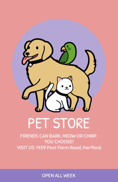 Online Flyer Maker for Pet Stores 396c