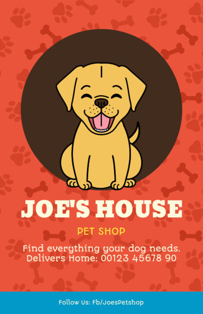 Online Flyer Maker for a Pet Shop 396d