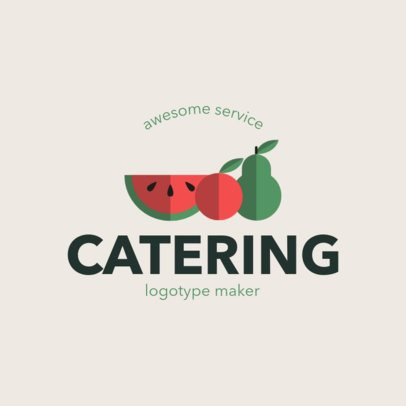 Catering Logo Maker with Minimalistic Food Illustrations 1924