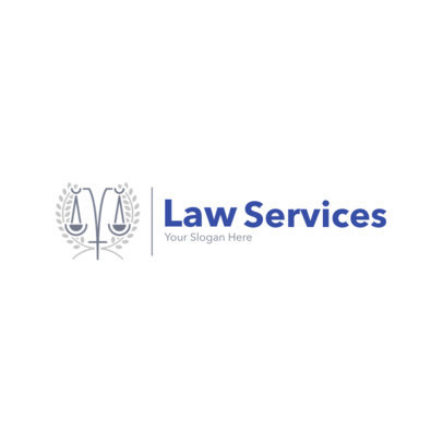 Law Logo Design Maker for Professional Law Services 1852