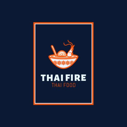 Thai Food Logo Maker for Pad Thai Restaurants 1841