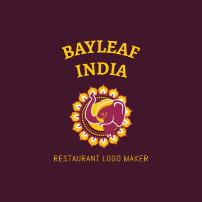 Colorful Indian Restaurant Logo Maker 1828