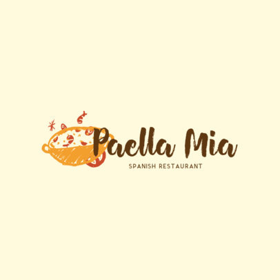 Spanish Restaurant Logo Maker with a Paella Illustration 1917