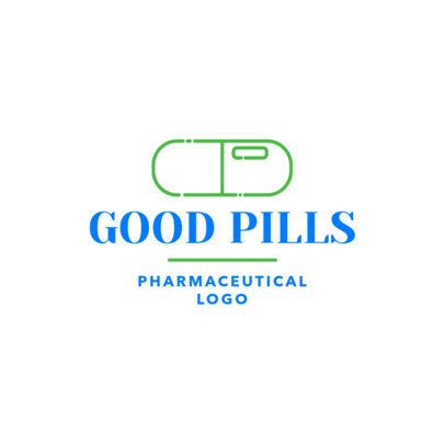 Pharmaceutical Logo Maker with Pill Clipart 1857d