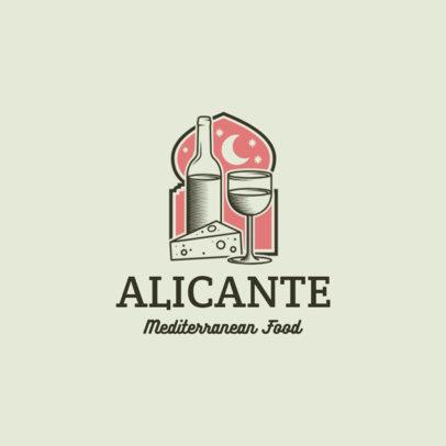 Modern Logo Maker for a Cozy Mediterranean Food Restaurant 1929