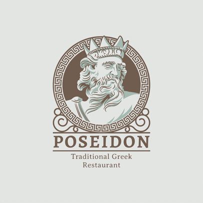 Logo Maker for a Traditional Greek Restaurant 1914