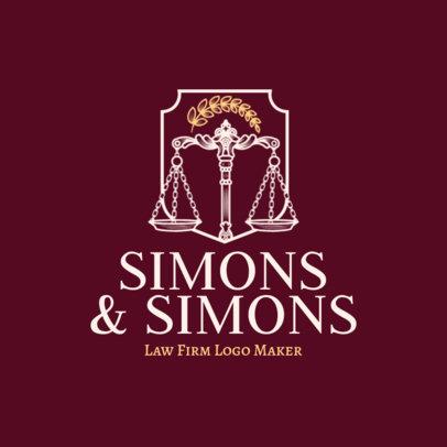 Opulent Law Firm Logo Maker 1855c