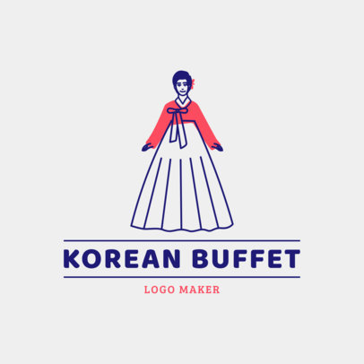 Restaurant Logo Maker for a Traditional Korean Buffet