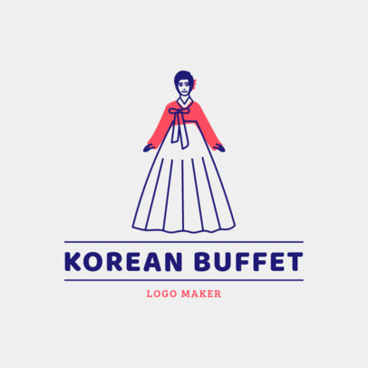 Restaurant Logo Maker for a Traditional Korean Buffet 1922