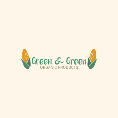 Vegetarian Restaurant Logo Maker with Corn Clipart 1935d