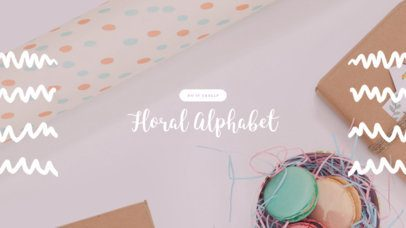 YouTube Channel Art Maker with Floral Graphics d413