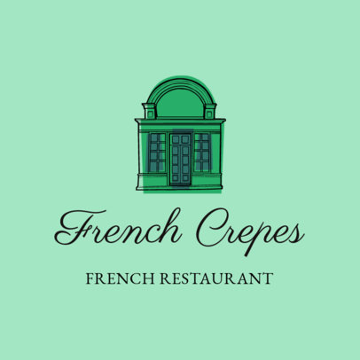 Beautiful French Restaurant Logo Maker for French Cuisine 1811