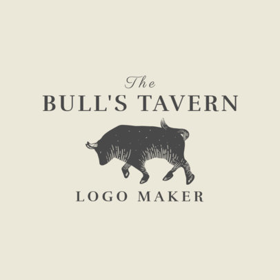 Spanish Restaurant Logo Maker with Bull Clipart 1918a