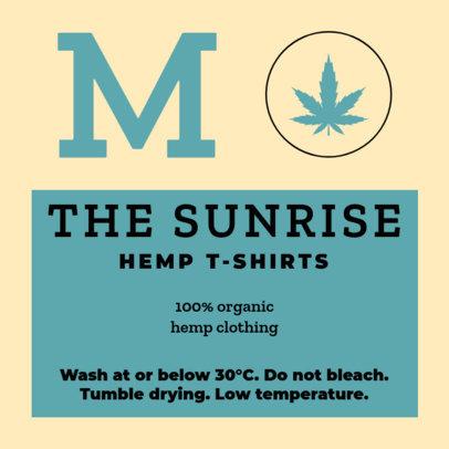 Organic T-Shirt Label Design Maker 1135b