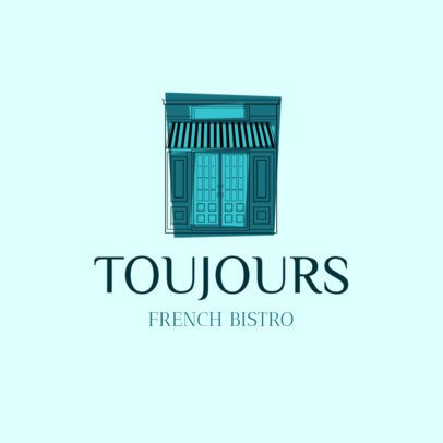Minimalist French Bistro Logo Maker 1811b