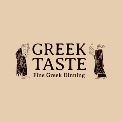 Mediterranean Restaurant Logo Maker for Fine Greek Dining 1911b