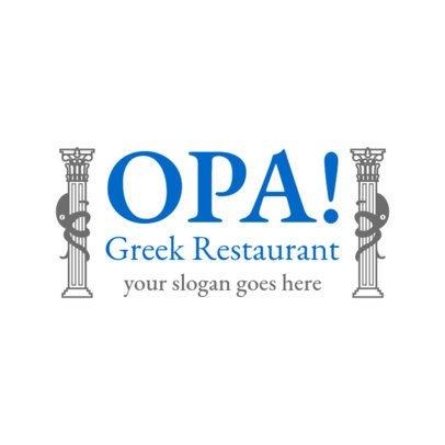 Greek Restaurant Logo Maker with a Bold Design 1911e