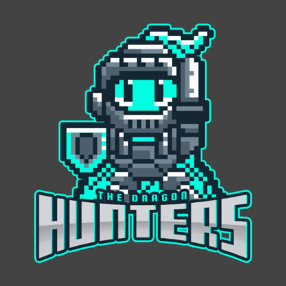 RPG Gaming Team Logo Maker with Pixel Art 1741