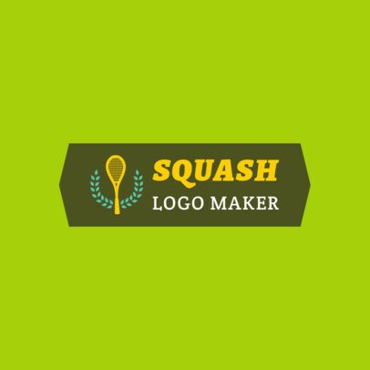 Squash Logo Generator with Racquet Icons 1932c