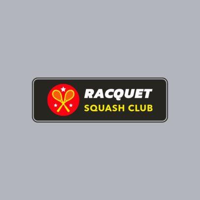 Squash Club Logo Maker 1932d