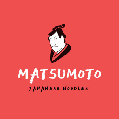 Restaurant Logo Maker with a Classic Japanese Man Portrait 1824a