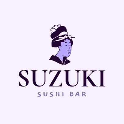 Japanese Restaurant Logo Maker for a Sushi Bar 1824d