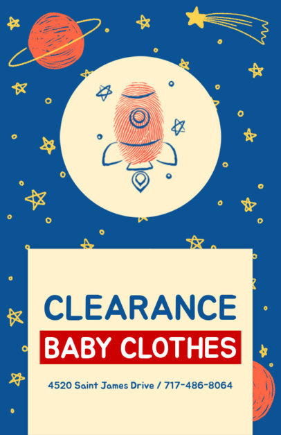 Flyer Design Maker for Baby Clothing Brand 502d