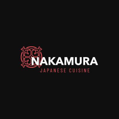 Elegant Japanese Cuisine Logo Maker 1823