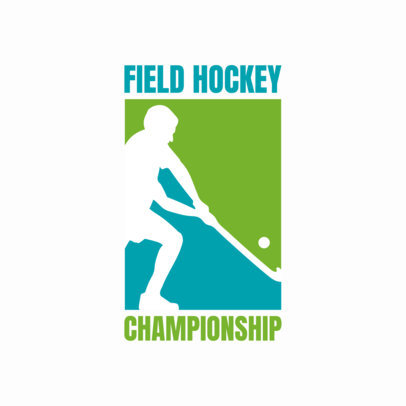 Field Hockey Logo Maker for Championships 1933