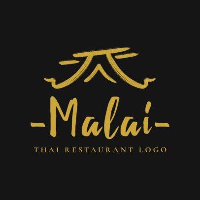 Minimalistic Thai Food Logo Maker with Elegant Illustrations 1840c