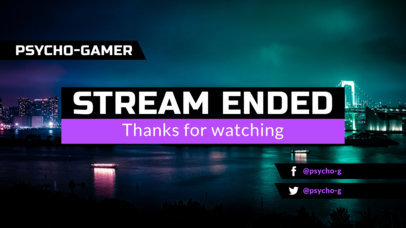 Simple Twitch Overlay Maker for a Stream Ended Announcement 1225