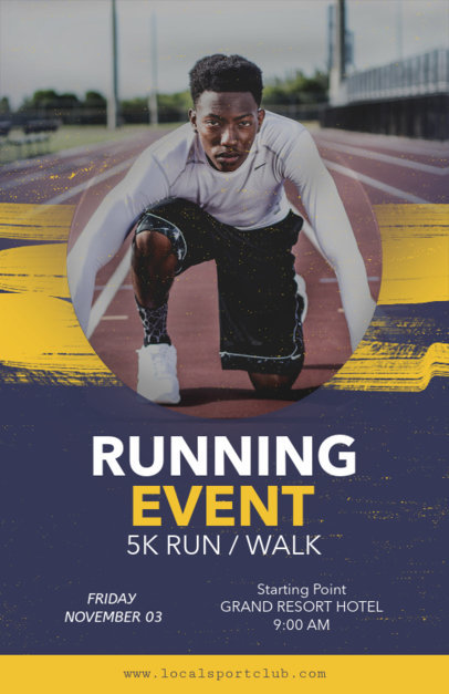 Online Flyer Maker for Running Events 108d