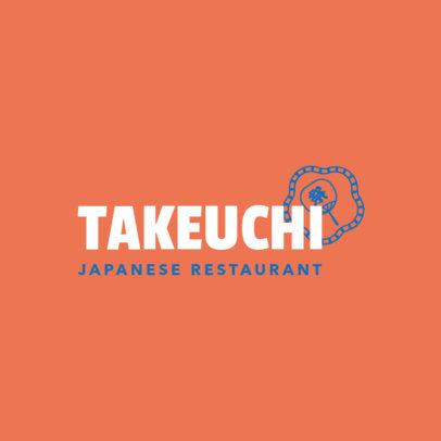 Minimalistic Japanese Restaurant Logo Maker 1823a