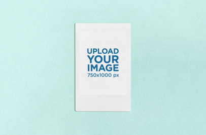Mockup of an Instax Picture Frame with a Textured Color Background 26289