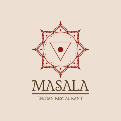 Indian Food Logo Maker with Mandala Graphics 1832