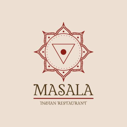 Indian Food Logo Maker with Mandala Graphics 1832