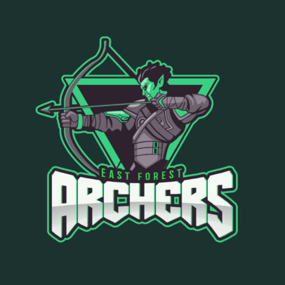 Gaming Logo Maker Featuring a Cool Archer Clipart 1741a