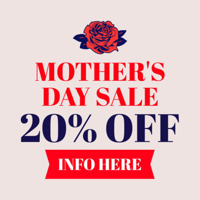 Mother's Day Discount Banner Maker
