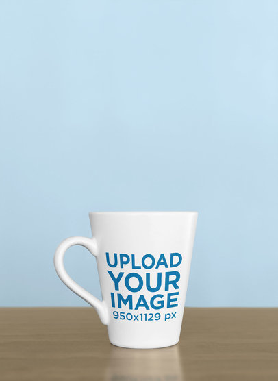 Coffee Mug Mockup Against a Solid-Color Background