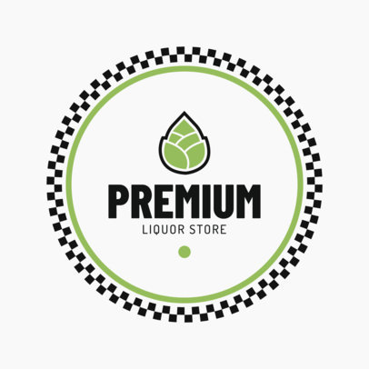 Modern Liquor Store Logo Maker with Circular Graphics 1816