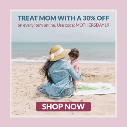 Banner Generator for a Mother's Day Special Sale