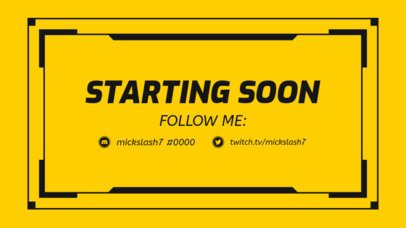 Simple Twitch Overlay Maker for a Starting Soon Live Stream 1220b