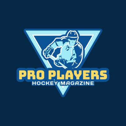 Ice Hockey Logo Maker for a Hockey Magazine 1559b