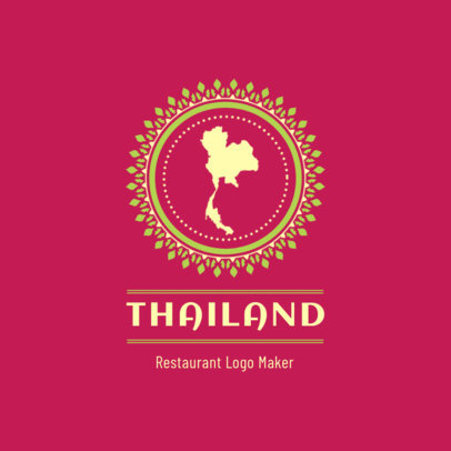 Restaurant Logo Maker Featuring a Map of Thailand