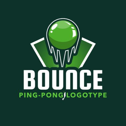 Ping Pong Logo Maker for Table Tennis Teams and Clubs 1625c
