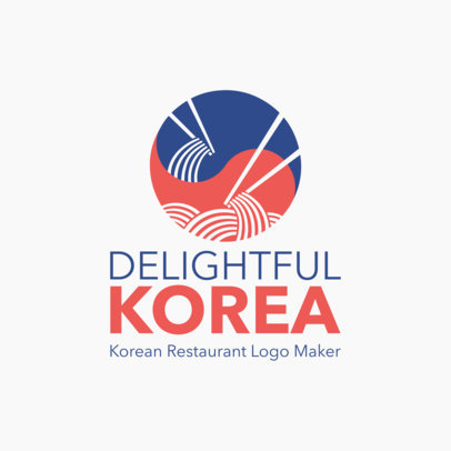 Korean Restaurant Logo Maker with a Minimalistic Design 1919