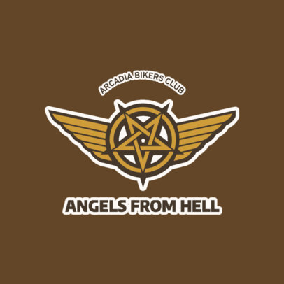 Edgy Bar Logo Maker for Bikers